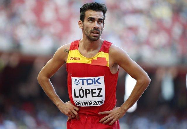 El atleta español Kevin López