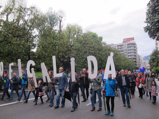 Manifestación por la oficialidad del asturiano.