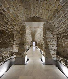 Bóvedas del antiguo Pósito Real de Porcuna tras su restauración.