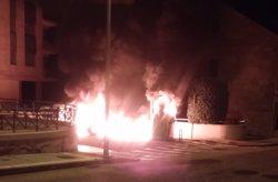 Incendio contenedores Baiona