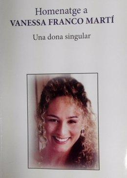 Portada del libro 'Homenatge a Vanessa Franco Martí. Una dona singular'