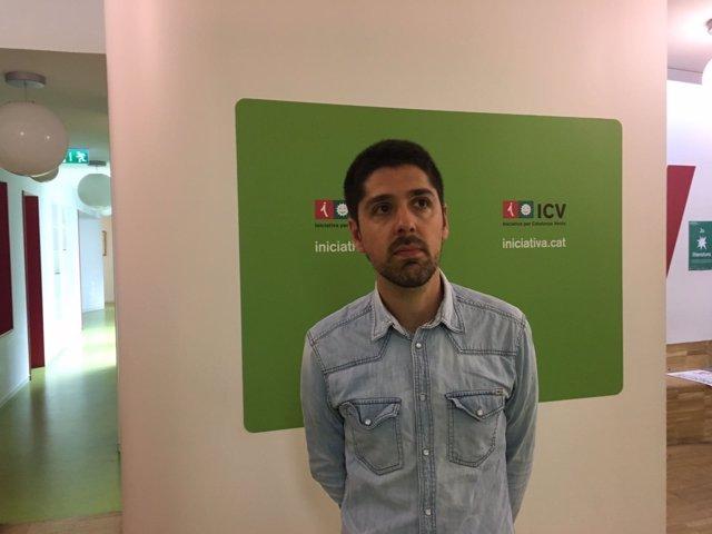 El coordinador de ICV, David Cid