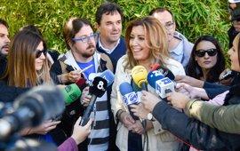 """Susana Díaz: """"No pediré el apoyo a Patxi López para ir contra Pedro Sánchez ni al revés"""""""