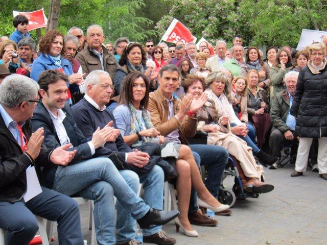 Pedro Sánchez, En Su Última Visita A Extremadura, En Mérida