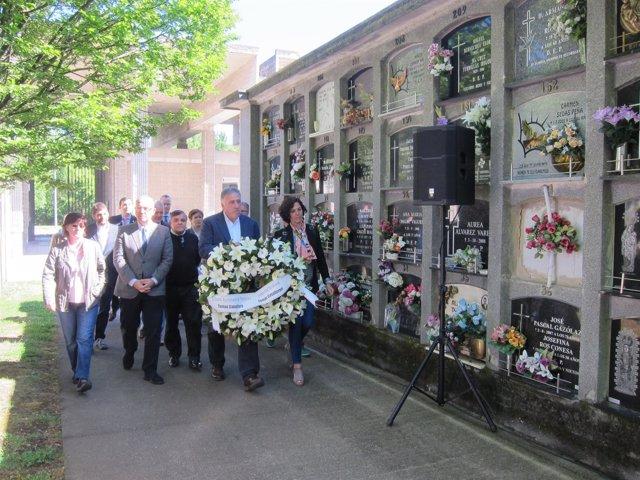 Homenaje a Tomás Caballero en el 19 aniversario de su asesinato