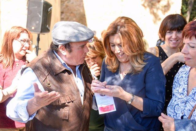 Susana Díaz en Barcelona este sábado