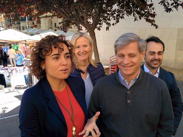 Dolors Montserrat, Ángeles Esteller y Alberto Fernández