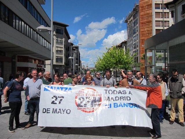 Concentración de las Marchas de la Dignidad Navarra contra la corrupción