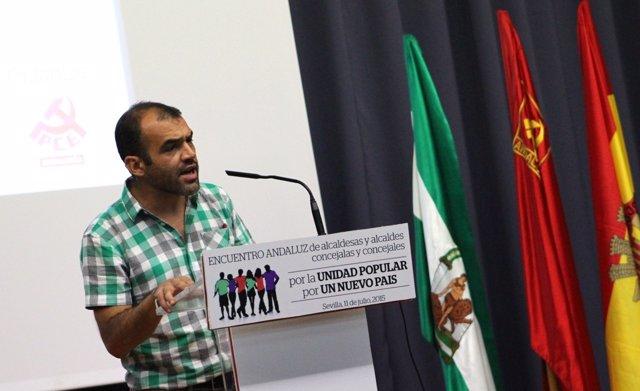 El secretario general del PCA, José Manuel Mariscal