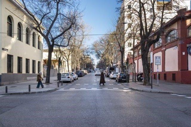Una calle del barrio madrileño de Vallehermoso