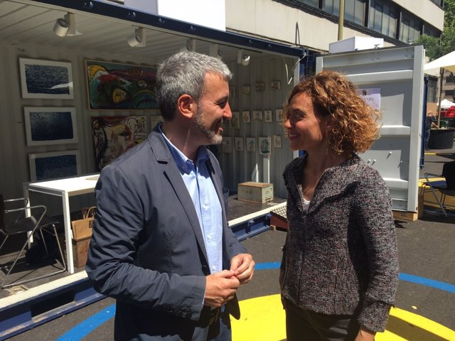 Jaume Collboni y Meritxell Batet