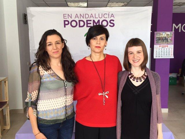 Reunión con las diputadas de Podemos Andalucía Lucía Ayala y Libertad Benítez