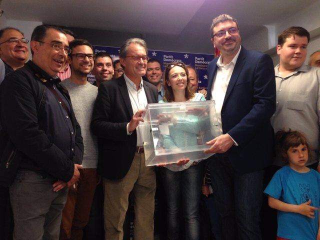 Artur Mas (PDeCAT) en Montblanc