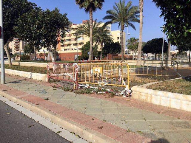 PSOE critica el estado del parque David Bisbal de Almería