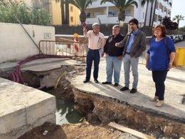 El Consell visita obras Ses Salines