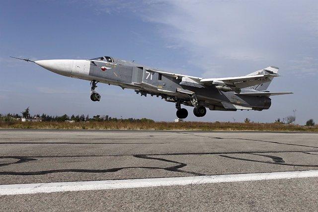 Sukhoi Su-24 Avion ruso en Siria