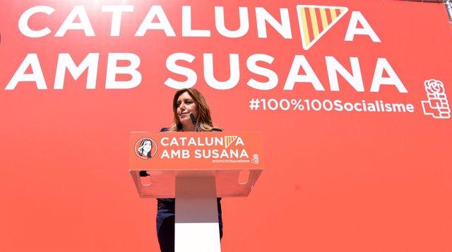 Susana Díaz en Cànoves i Samules
