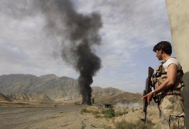 Soldado afgano en Afganistán