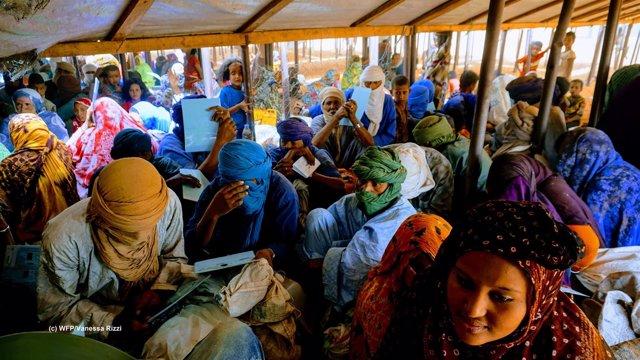 Campo de refugiados malienses de Mbera (Mauritania)