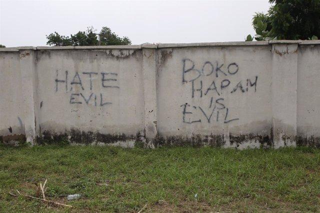 Pintada en contra de Boko Haram