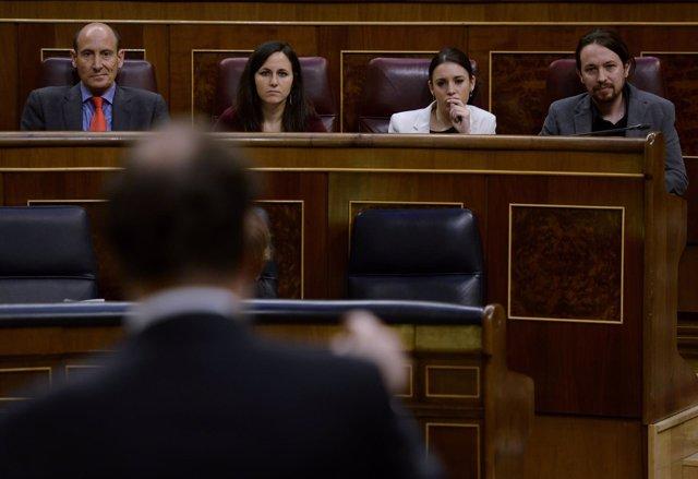 Mariano Rajoy contestando a Pablo Iglesias