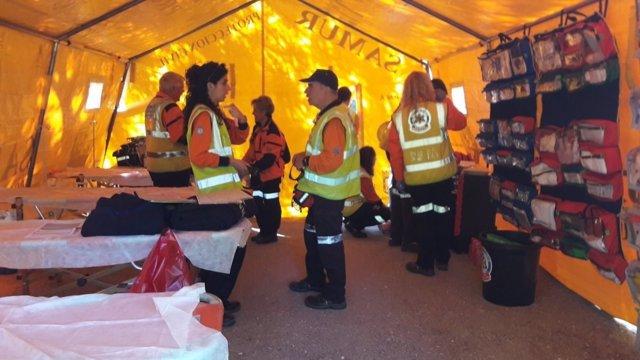 Equipo de emergencias en la Carrera de la Mujer