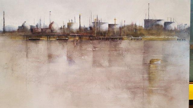 Primer premio del Certamen de pintura de patrimonio industrial al aire libre