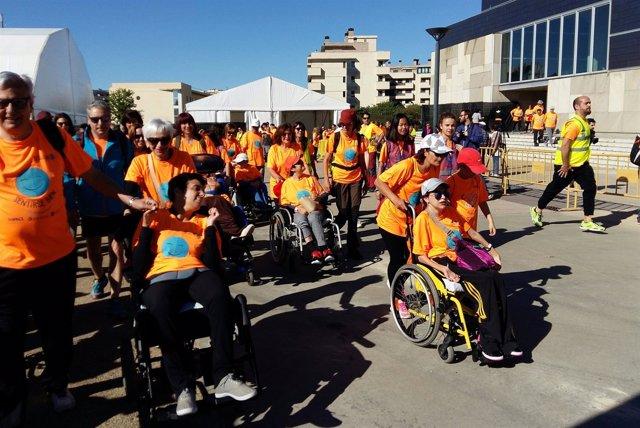 Broto ha participado en la 5ª Marcha ASPACE Huesca.