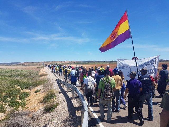 Marcha contra el ATC a Villar de Cañas