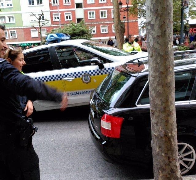 Los coches tras la persecución