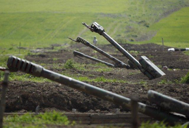 Artillería armenia en Nagorno-Karabaj