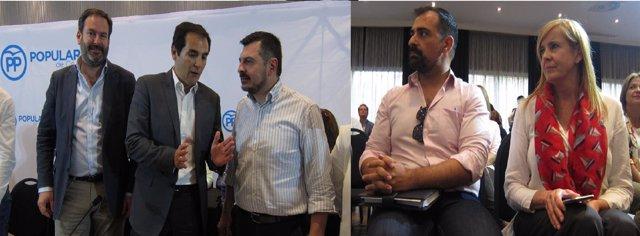 Adolfo Molina, José Antonio Nieto y Toni Martín y Félix Romero y Rosario Alarcón