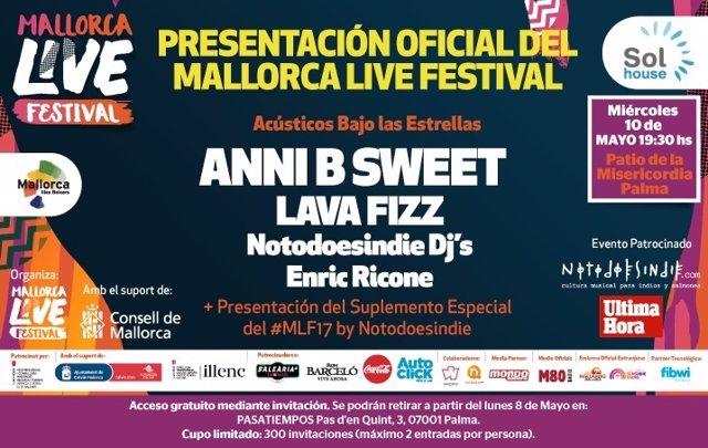 Cartel presentación Mallorca Live Festival