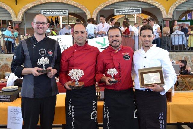 Ganadores del Concurso de Cortadores  del Salón del Jamón Ibérico 2017
