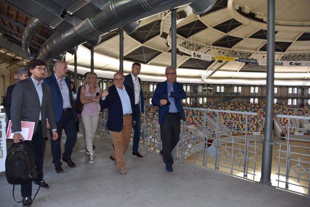 Visita del Intergrupo de Deportes del Europarlamento a la Tarraco Arena Plaça