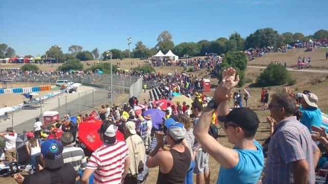 Aficionados en el Gran Premio de Jerez