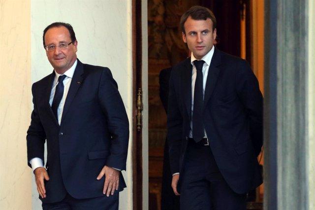 François Hollande y Emmanuel Macron, en una imagen de archivo