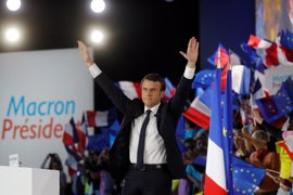 Macron gana las presidenciales con el 62,48 por ciento de votos, con el 67 por ciento escrutado