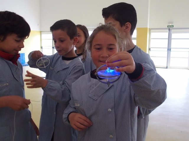 Alumnos en un taller Play Energy de Endesa