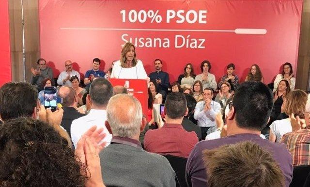 Susana Diaz, en un acto en Palma de Mallorca