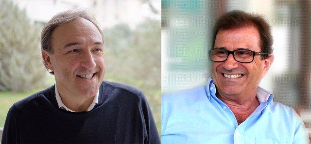 Candidatos a rector Rafel Crespí y Llorenç Huguet