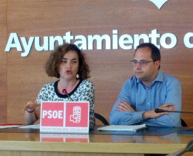 Luena y Arraiz, en la rueda de prensa