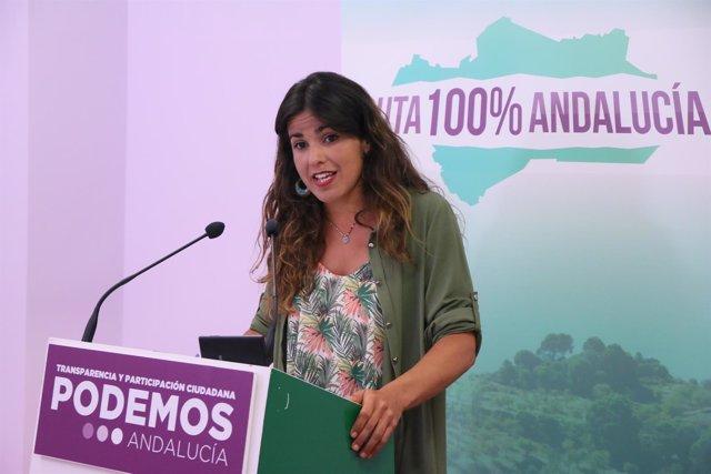 Teresa Rodríguez presenta la ruta '100% Andalucía' en la sede de Podemos