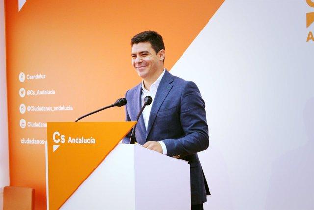 El portavoz adjunto de Ciudadanos en el Parlamento, Sergio Romero