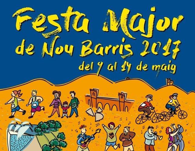 Fiesta mayor del distrito barcelonés de Nou Barris de 2017