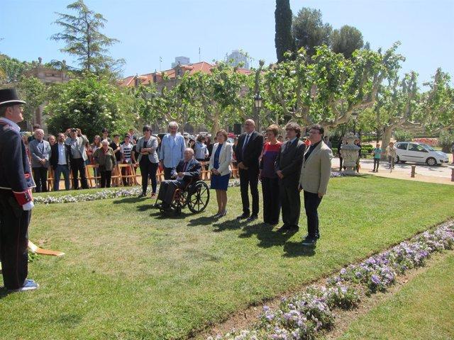 Conmemoración en Barcelona del fin de la II Guerra Mundial