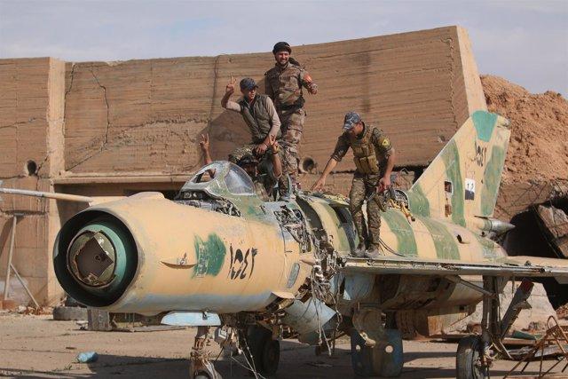 Milicianos de las FDS en la localidad siria de Tabqa