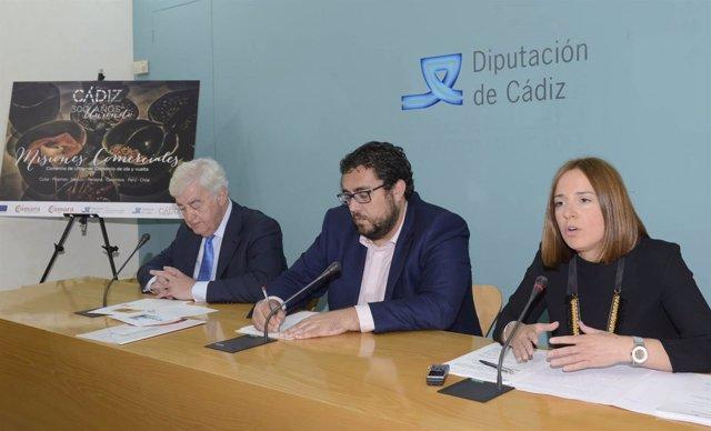 La Diputación y la Cámara de Comercio presentan las misiones del Tricentenario