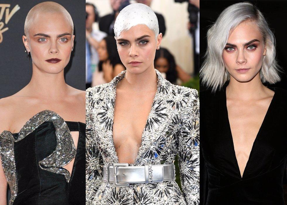 Los cambios de look más radiacales de Cara Delevigne./ Cordon Press