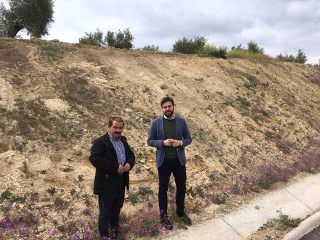 Visita a las obras realizadas en la carretera entre Bedmar y Garcíez.